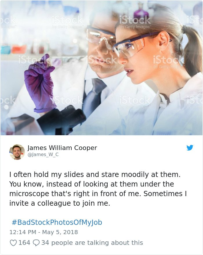 Stock photography gone wrong - no microscope
