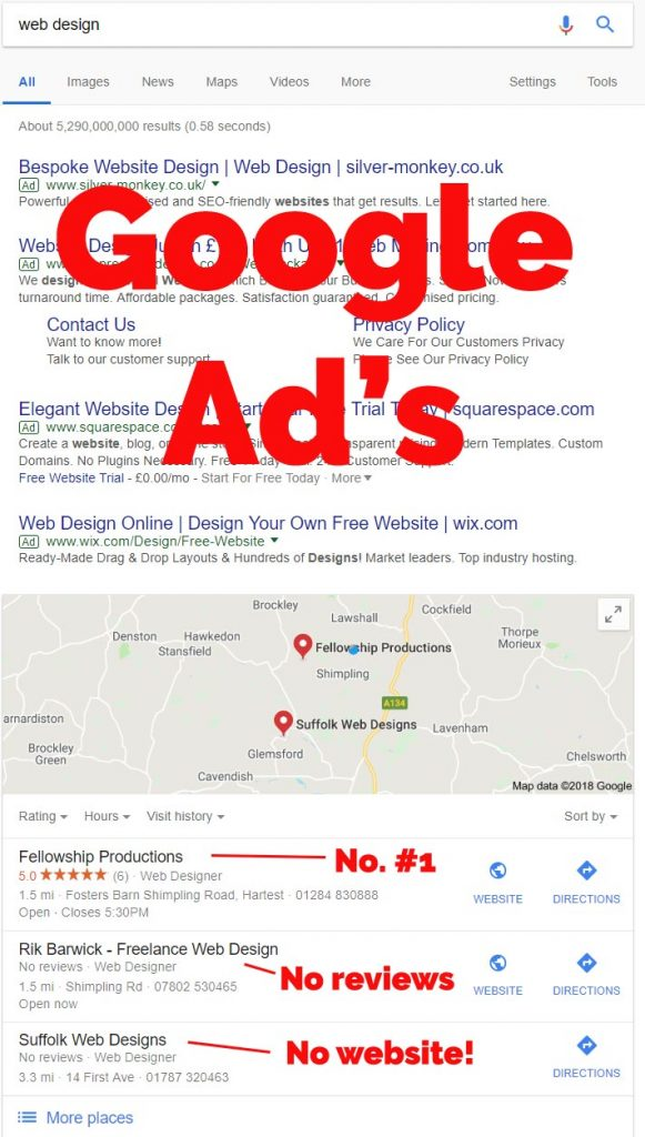 Google Maps SEO - Web Design