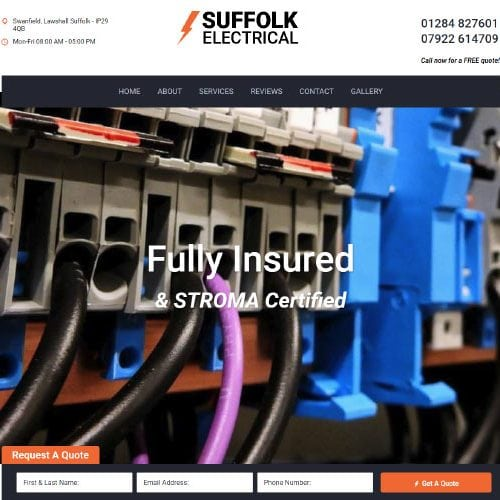 Pay Monthly Websites - Suffolk Electrical
