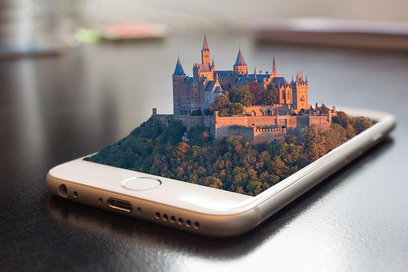 Mobile First - 3D Castle on Mobile